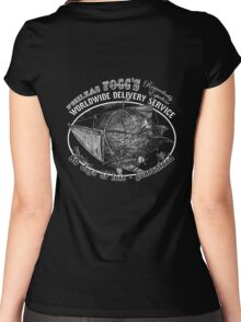 Phileas Fogg's Remarkably Expedient Delivery Service Women's Fitted Scoop T-Shirt