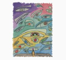 A Wall of Eyes Kids Clothes