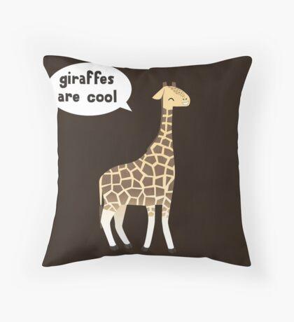 Giraffes are cool Throw Pillow