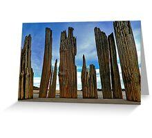 Fort Tilden Driftwood5 Greeting Card