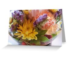 Flower Aquarium Bubbles And All Greeting Card