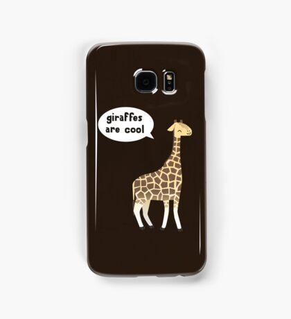 Giraffes are cool Samsung Galaxy Case/Skin