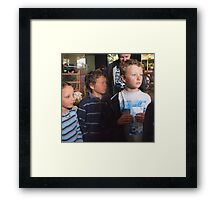 The age of innocence waiting for Christmas Framed Print