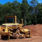 Caterpillar D7H Dozer by buildings