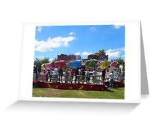 Anyone for the wizz - at the fair, Moonee Valley, Melbourne Vic Australia Greeting Card