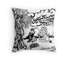 Japanese tea Throw Pillow