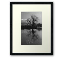 Twilight on Olt River Transylvania Framed Print