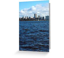 PERTH...from the river-cat Greeting Card