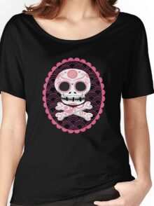 Pink Sugar Skull Vector Women's Relaxed Fit T-Shirt