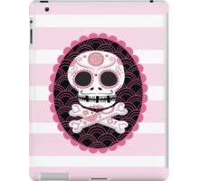 Pink Sugar Skull Vector iPad Case/Skin