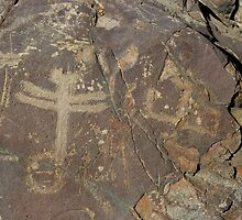 Dragonfly Petroglyphs ~ New Mexico by Vicki Pelham