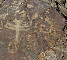Dragonfly Petroglyphs ~ New Mexico by Vicki Pelham