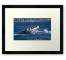 Burleigh Heads - Mowbray Park Surf Boat Crew In Action #1 Framed Print