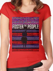 Foster the People Glitch Pattern Women's Fitted Scoop T-Shirt