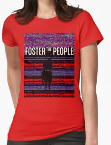 Foster the People Glitch Pattern Womens Fitted T-Shirt