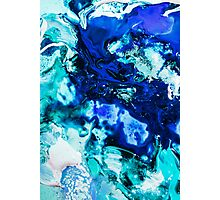 Blue liquid Photographic Print