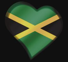 Jamaican Flag - Jamaica - Heart One Piece - Short Sleeve