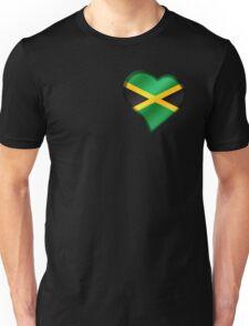 Jamaican Flag - Jamaica - Heart Unisex T-Shirt