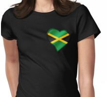 Jamaican Flag - Jamaica - Heart Womens Fitted T-Shirt