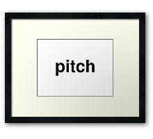 pitch Framed Print