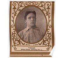 Benjamin K Edwards Collection Joe Tinker Chicago Cubs baseball card portrait Poster