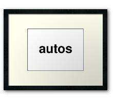 autos Framed Print