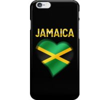 Jamaica - Jamaican Flag Heart & Text - Metallic iPhone Case/Skin
