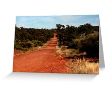 DOWN THAT RED DIRT ROAD Greeting Card