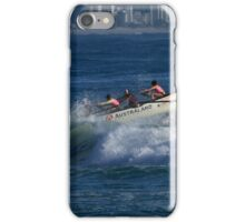 Burleigh Heads - Mowbray Park Surf Boat Crew In Action #2 iPhone Case/Skin