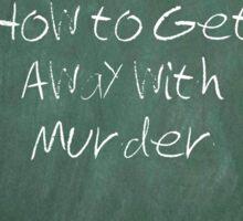 Murder? Sticker