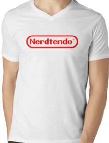 Nerdtendo Mens V-Neck T-Shirt