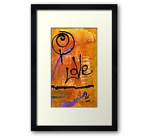 A Whirlwind Called LOVE Framed Print