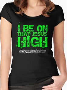 #Whiteout: I Be On That Jesus High Women's Fitted Scoop T-Shirt