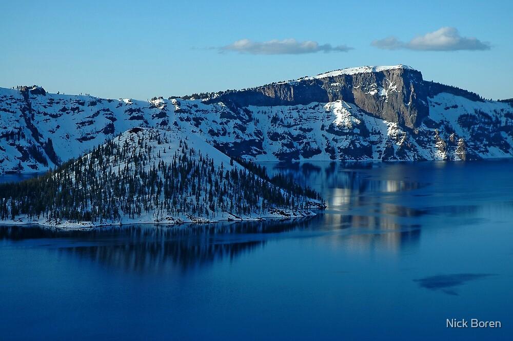 Crater Lake Winter Landscape by Nick Boren