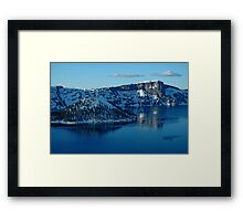Crater Lake Winter Landscape Framed Print