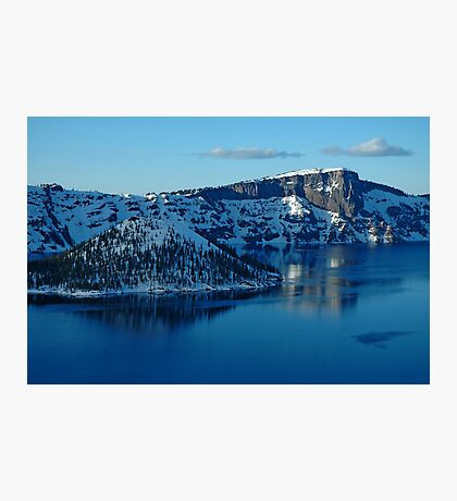 Crater Lake Winter Landscape Photographic Print