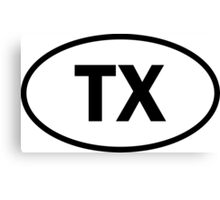 Texas - TX - oval sticker and more Canvas Print