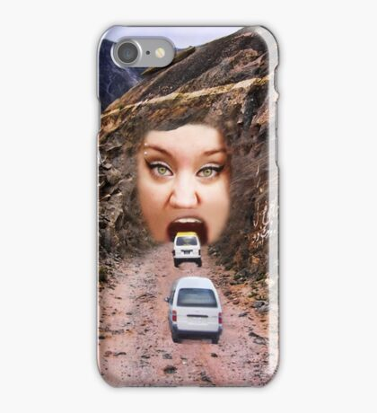 (✿◠‿◠) FACE IN MOUNTAIN OPEN MOUTH DRIVE THROUGH (✿◠‿◠) iPhone Case/Skin