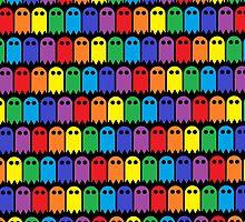 Mini Ghost Army! - Rainbow by Hayden Di Bona