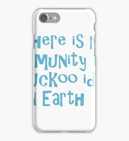 Breakfast of Champions quote iPhone Case/Skin