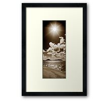 Coconut Palm trees, big clouds & Sunshine Framed Print