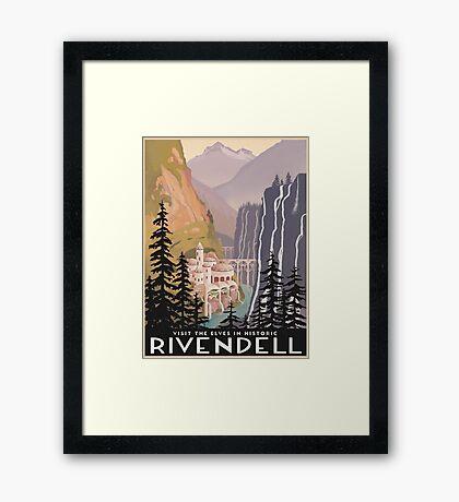 Fantasy valley travel poster Framed Print