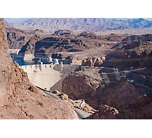 Into the Hoover Dam from Nevada Photographic Print