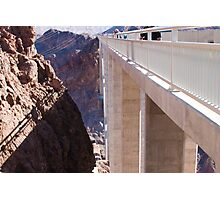 Side View of the Mike O'Callaghan - Pat Tillman Bridge Photographic Print