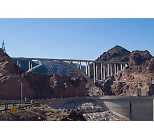 The Mike O'Callaghan - Pat Tillman Bridge from Hoover Dam Photographic Print
