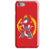 Robot Master Fire Man Vector Design iPhone Case/Skin