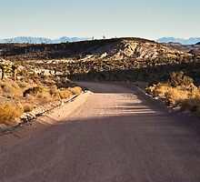 Groom Lake Road Towards ET Highway by Henry Plumley