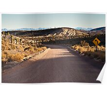 Groom Lake Road Towards ET Highway Poster