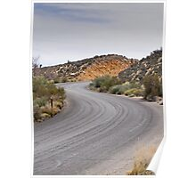 S Curves on the Parkway Through Red Rock Canyon, Summerlin, Nevada Poster