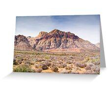 Red Stripe Mountain Greeting Card